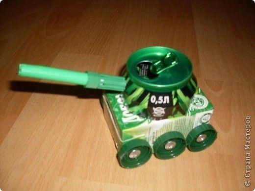 Поделка изделие Поделки для мальчиков 23 февраля Моделирование конструирование Военная техника Материал бросовый