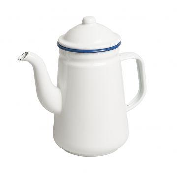 Koffiepot, emaille, blauw, 1 liter