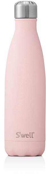S'well Pink Topaz Bottle, 17 oz in bubblegum pink with a matte finish and silver top. Affiliate. #pink #swellbottle