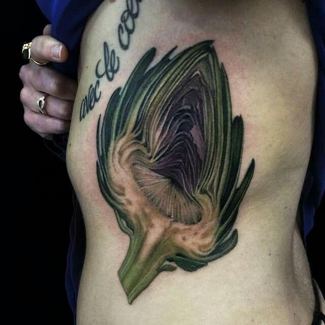 Artichoke by Ryan Flaherty Tattoo