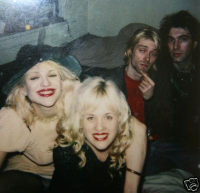 Courtney Love, Kat Bjelland  and Kurt cobain