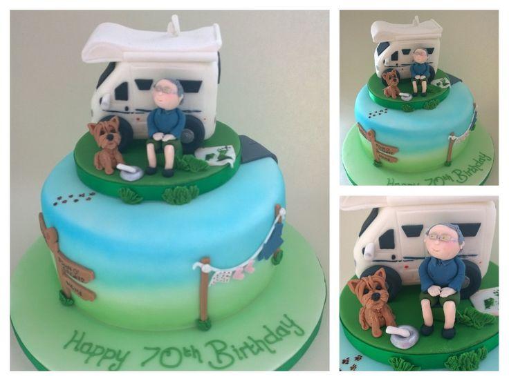 Camper Van Motorhome Birthday Cake Topper Cupcakes