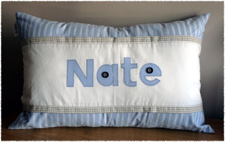 "Personalized ""Nate"" Name Scatter - 35cm x 55cm - ideal to brighten any child's room! Great gift idea. Order from Tula-tu Baby Linen - also find us on facebook"