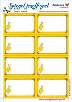 Spiegel-jezelf-spel > knipblad KAARTJES om zelf Spiegel-jezelfkaartjes te maken. Knip de kaartjes los. Maak hiermee je eigen kaartjes van jouw sterkste eigenschappen. Bewaar ze vervolgens goed in je zelfgemaakte bewaar envelopje. TIPS op: http://www.spiegel-jezelf-spel.nl/