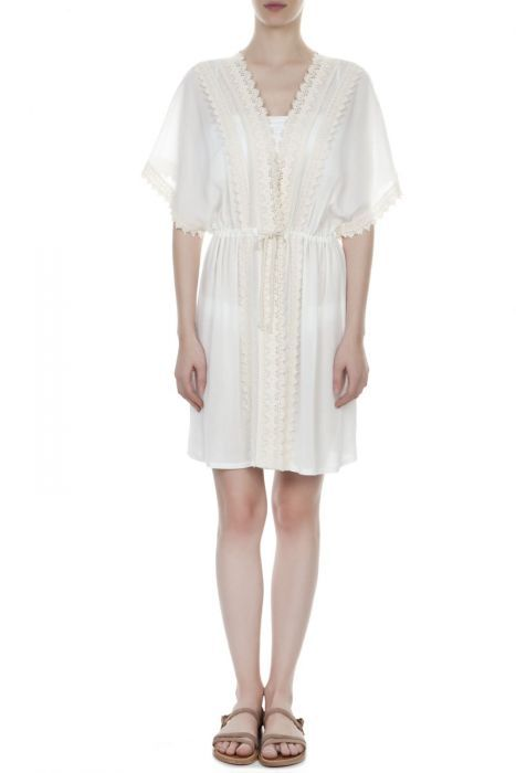 Crochet trimmed robe #despinavandicollection