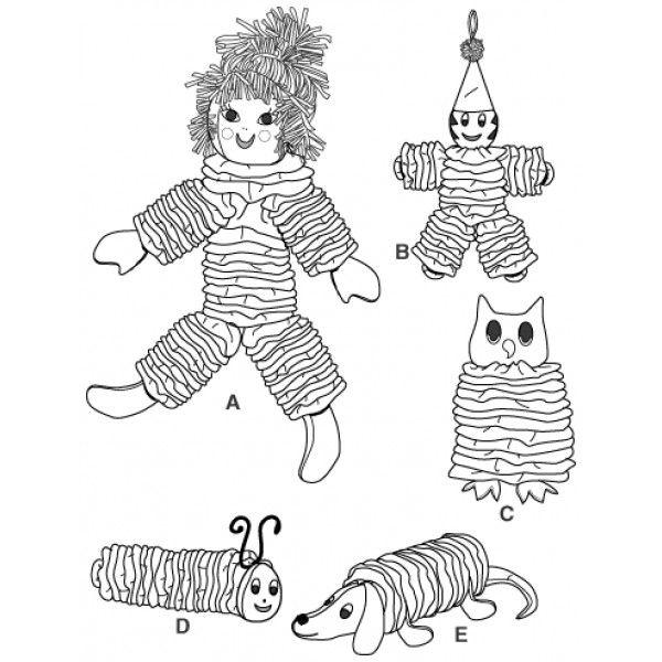 free+yo+yo+animal+patterns Home Yo Yo Toys Sewing Pattern Clown Owl Dog Caterpillar ...