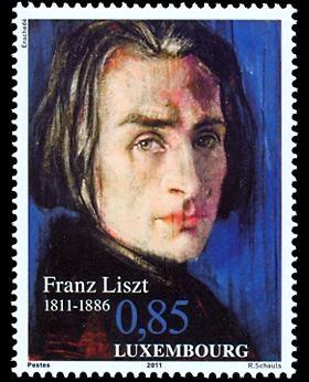 .Luxemburgo 2011 - Franz Liszt fue un compositor austro-húngaro romántico, un virtuoso pianista, profesor, director de orquesta y franciscano seglar.