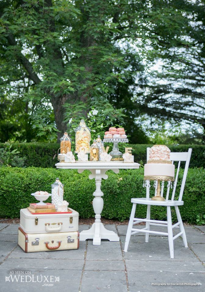 WedLuxe: a dreamy styled shoot filled with #blush-colored #wedding ideas and must-see #sweet table