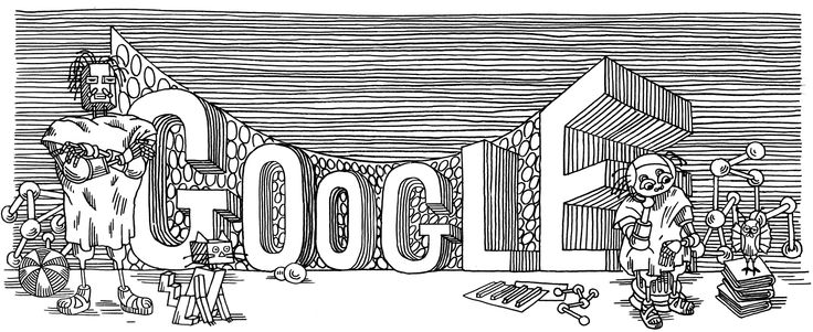 60th Anniversary of Stanislaw Lem's First Publication [60-летие первой публикации Станислава Лема] /This doodle was shown: 23.11.2011 /Countries, in which doodle was shown: Austria, Belarus, Bulgaria, Estonia, France, Germany, Hungary, Ireland, Italy, Latvia, Lithuania, Poland, Russia, Spain, Switzerland, Ukraine, United Kingdom