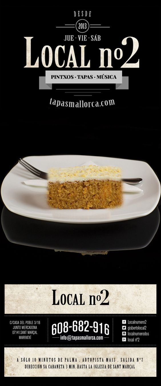 postre / Nachtisch / dessert / Nachspeise / pastel zanahoria / Möhren - Kuchen, Karotten - Kuchen de local n°2 / local2 / localnumero2 / localnumerodos / Marratxí / Mallorca / info@tapasmallorca.com … 608-682916