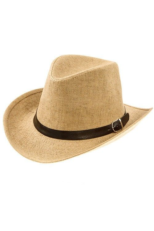 UPBRIM CLASSIC FEDORA WITH BLACK BAND STRAW HAT