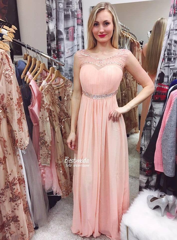 Meruňkové zdobené šaty Eva Lola skladem  05cdf77182