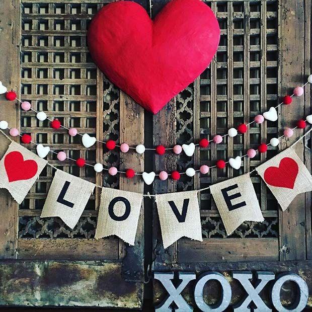 21 Cute Valentine S Day Decor Ideas Stayglam Diy Valentine S Day Decorations Valentines Day Decorations Valentine S Day Diy
