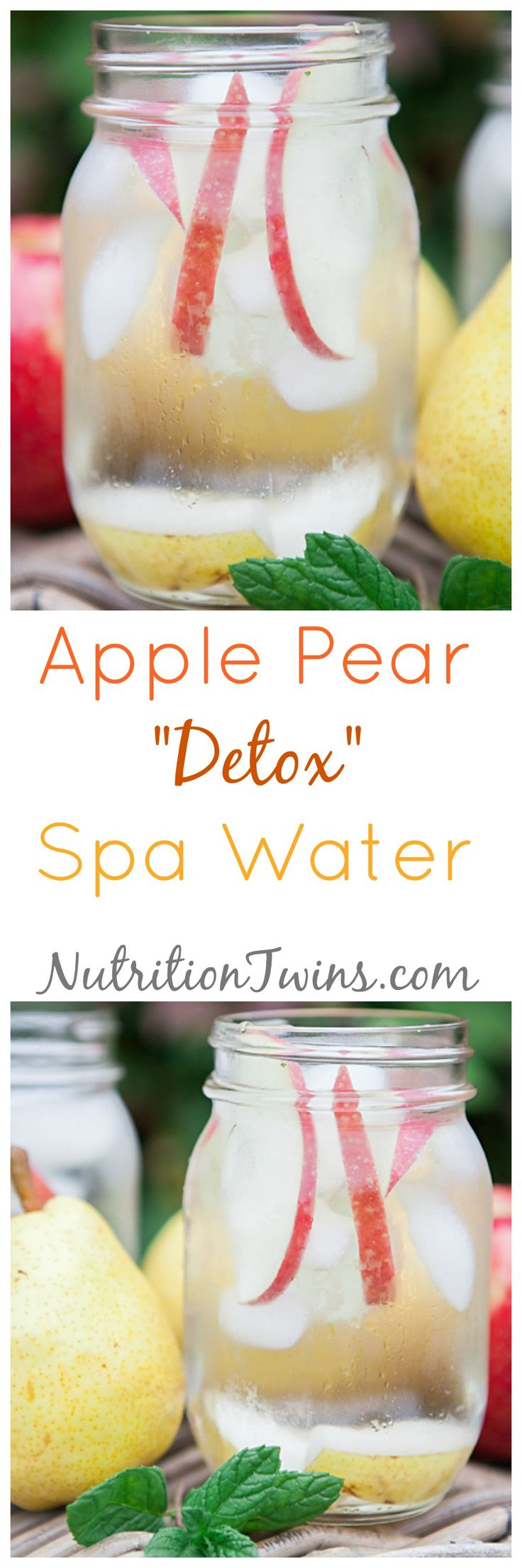 """Apple Pear """"Detox"""" Spa Water 