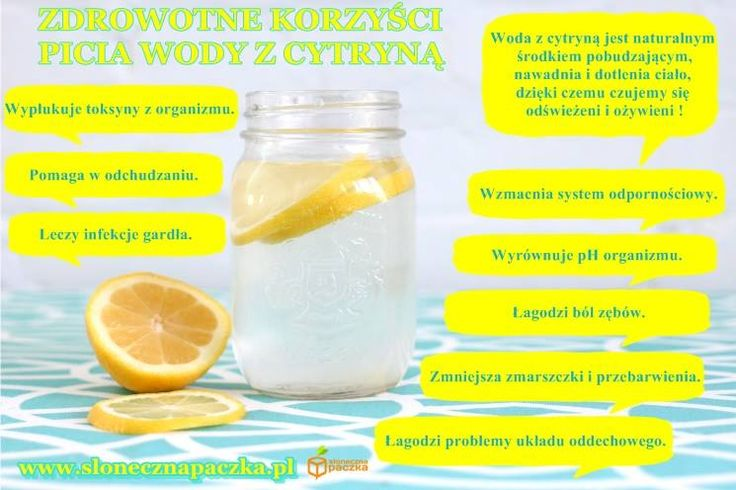 woda z cytryna