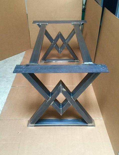 La Base Diamond Dining Table Base Base industrielle robuste