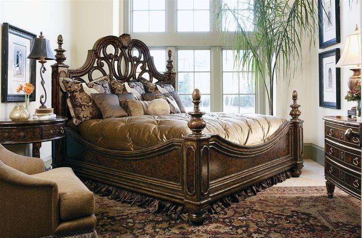 High end master bedroom set. Manor home collection. Live like a King, luxury furnishings for castles to cottages Bernadette Livingston Furniture.