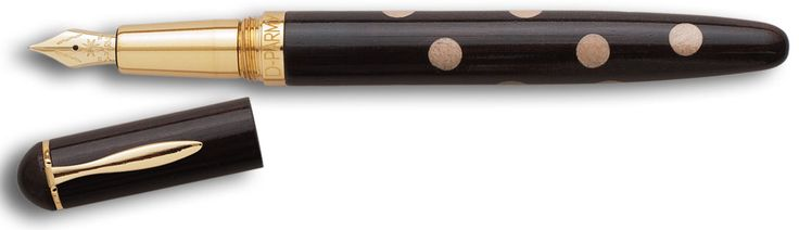 Puà by D-Parmy: hand-made pens, in solid ebony with maple inlays