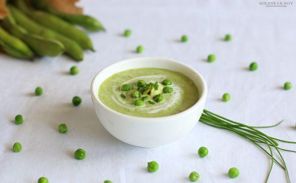 Ingrédients pour une portion d'environ 200 gr :   100 gr de fèves fraîches (ou surgelées) pelées  100 gr de petits pois fr