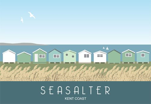 Beach Huts at Seasalter near Whitstable | Nigel Wallace of White One Sugar