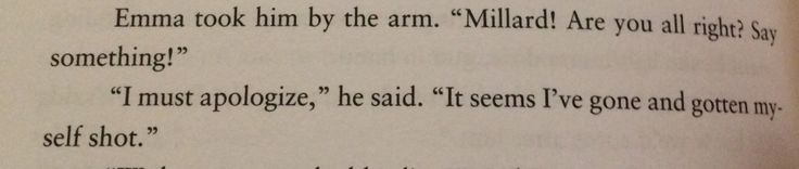 #Funniest sentence ever  From Miss Peregrines home for peculiar children.
