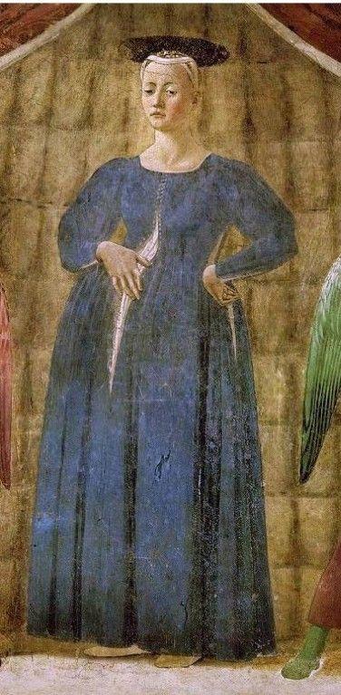 Piero della Francesca Madonna 14 Madonna del Parto Monterchi Arezzo