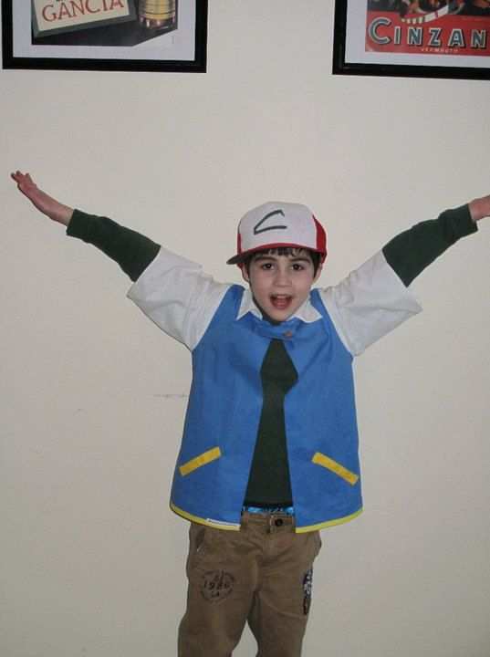Ash from pokemon costume  with hat by Hamnascreations on Etsy