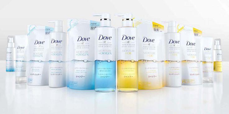 Dove Hair Care Relaunch in Japan — The Dieline - Branding & Packaging Design