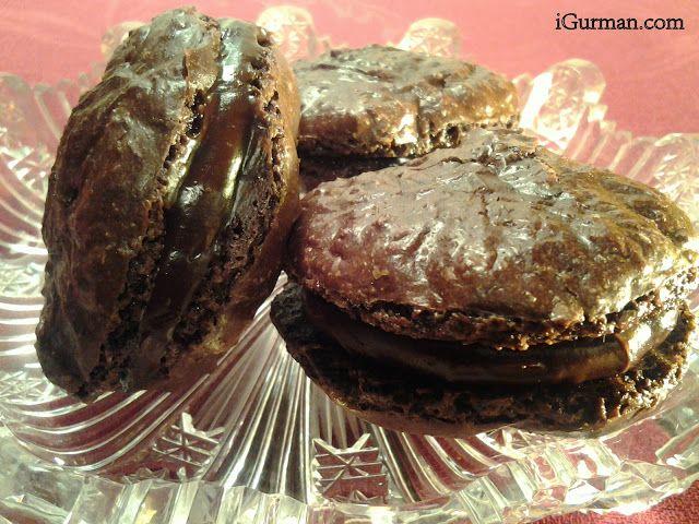 Čokoládovo-mandľové makrónky