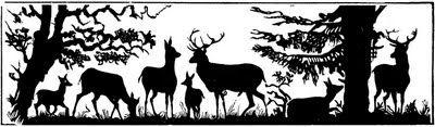 Deer Scene Silhouette | by Cathe Holden JustSomethingIMade.com