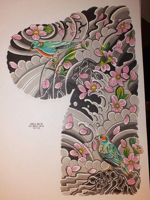 Тату эскизы, Японские татуировки, карп кои, тату драконы. | 117 фотографий