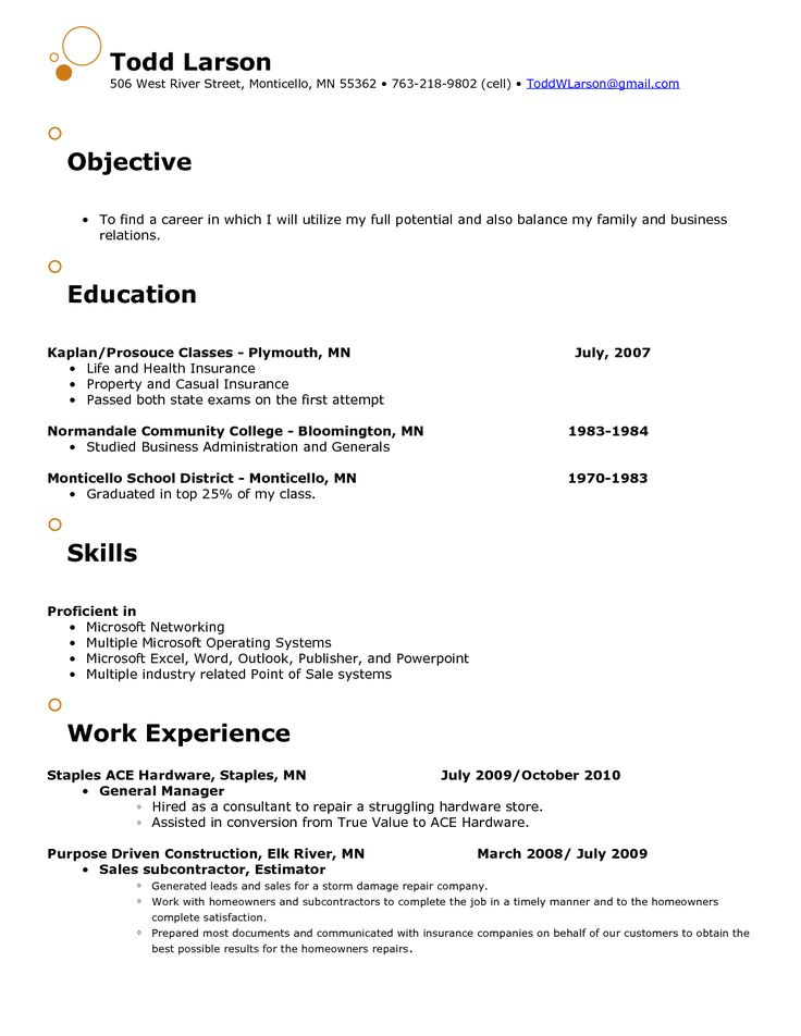 85 best resume template images on Pinterest Resume, Job resume - resume objective sales