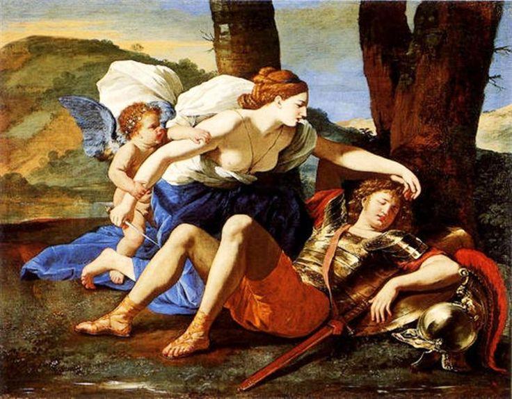 Rinaldo y Armida, 1625 - Nicolas Poussin