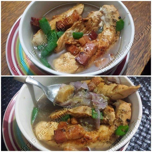 Sopa de aspargos frango repolho roxo (seus beneficios)