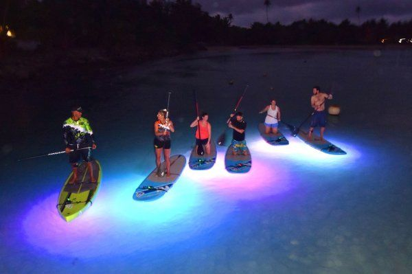 You've tried paddle boarding, now try night SUP! Just a short walk from Pacific Resort Rarotonga on the beautiful Muri Lagoon I Embedded image permalink