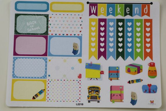 Ridin' the School Bus Planner Sticker Sampler by LisaLorenePlans