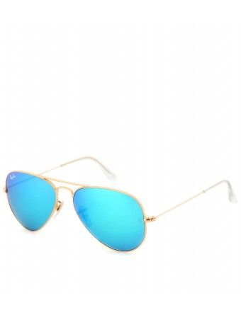 Ray Ban 3025 Aviator with Blue-Green gradient flash lenses