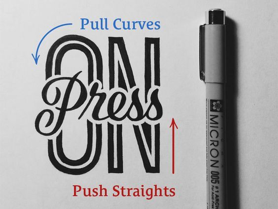 A quick tip on drawing straight lines and avoiding shaky hand lettering.