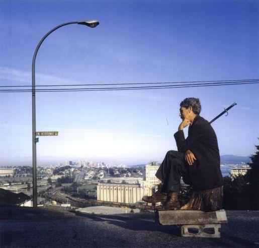 Jeff Wall, The Thinker, 1986. Rodin influence.