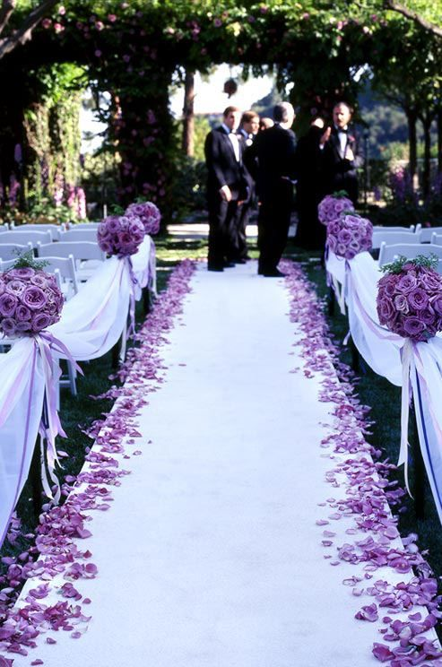 Gorgeous purple floral accents at this Colin Cowie wedding