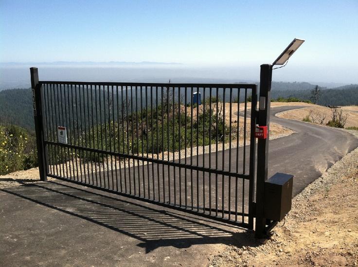 Iron gate with solar LiftMaster operator & 18 best Gates images on Pinterest | Gates Driveways and Santa cruz Pezcame.Com