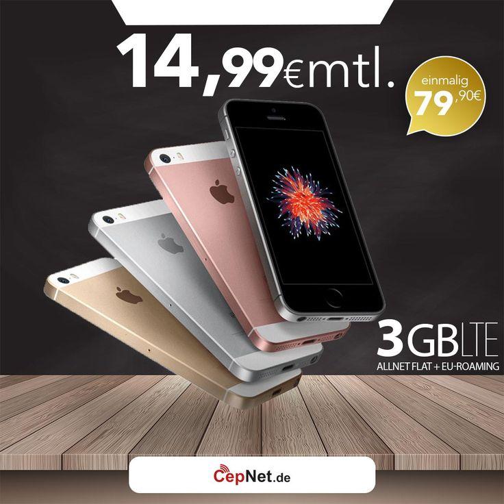 🔥🔥🔥Apple iPhone SE 32GB mit günstigem ay yildiz Ay Allnet Vertrag  👉👉https://www.cepnet.de/smartphones/apple/iphone-se/32gb-silber/ay-yildiz/ay-allnet/?utm_source=cepnet_sosyal&utm_medium=sosyal&utm_campaign=iphonese    ✅Telefonie-Flat* in alle dt. Handy-Netze  ✅Telefonie-Flat* ins dt. Festnetz  ✅Telefonie-Flat* ins türkische Festnetz  ✅Internet-Flat* 3 GB mit bis zu 21,6 Mbit/s (danach Drosselung auf 56 kbit/s)  ✅EU Roaming Flat** EU-weit surfen & telefonieren    ➤Gerätepreis einmalig…