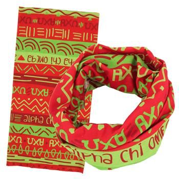Alpha Chi Omega Wide Head Buff SALE $12.95. - Greek Clothing and Merchandise - Greek Gear®