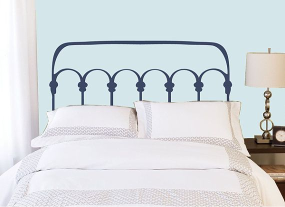 Charmant Full/Double Headboard Decal   Wrought Iron Style   Vinyl Wall Sticker Decal  On Etsy