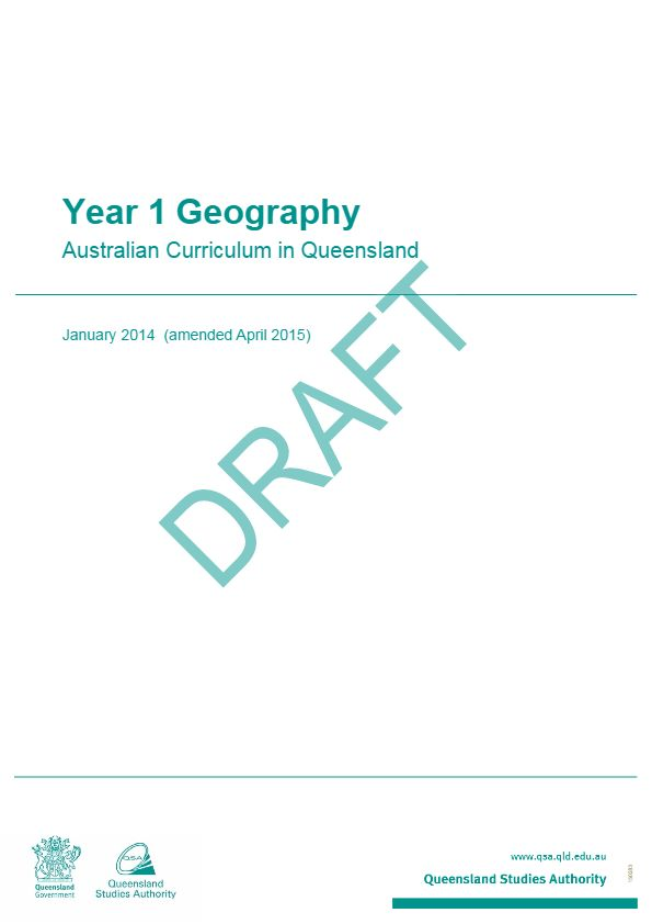 The Year 1 Geography: Australian Curriculum in Queensland brings together the learning area advice and guidelines for curriculum planning, assessment and reporting in a single document.