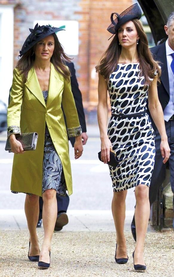 The Middleton sisters, Pippa and Duchess Kate.
