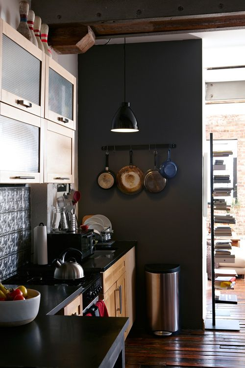 great idea for placing cook books!