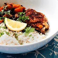 Slow Cooker Latin Chicken with Sweet Potatoes and Black Beans