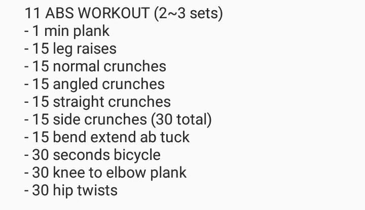11 Kpop Abs Workout Kpop Workout Abs Workout Extreme Workouts