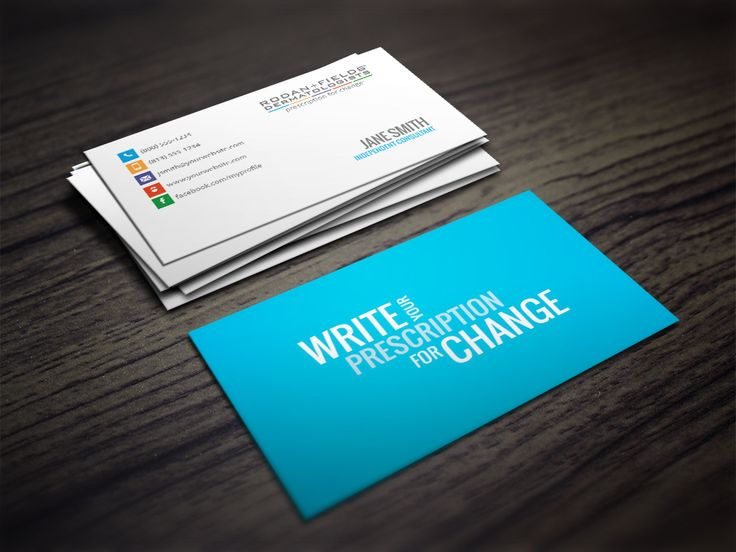Rodan + Fields Business Card with SLOGAN - Write Your Prescription for Change